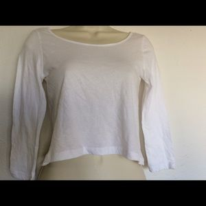 NWT PacSun LA Hearts white cropped women's XS top